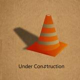 σημάδι κατασκευής κάτω Στοκ φωτογραφία με δικαίωμα ελεύθερης χρήσης