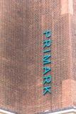 Σημάδι καταστημάτων ιματισμού Primark στην οδό της Οξφόρδης στο Λονδίνο στοκ εικόνες με δικαίωμα ελεύθερης χρήσης