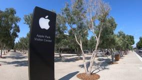 Σημάδι καταστημάτων πάρκων της Apple απόθεμα βίντεο