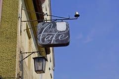 σημάδι καφέδων Στοκ Φωτογραφία