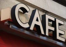 σημάδι καφέδων στοκ εικόνα με δικαίωμα ελεύθερης χρήσης