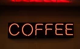 Σημάδι καφέ νέου Στοκ Φωτογραφία