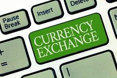 Σημάδι κειμένων που παρουσιάζει ανταλλαγή νομίσματος Εννοιολογική διαδικασία φωτογραφιών ένα νόμισμα σε ένα άλλο Forex διανυσματική απεικόνιση