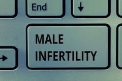 Σημάδι κειμένων που παρουσιάζει αρσενική στειρότητα Εννοιολογική ανικανότητα φωτογραφιών ενός αρσενικού να προκαλέσει την εγκυμοσ στοκ φωτογραφία με δικαίωμα ελεύθερης χρήσης