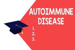 Σημάδι κειμένων που παρουσιάζει αυτοάνοση ασθένεια Εννοιολογικά ασυνήθιστα αντισώματα φωτογραφιών που στοχεύουν στους ιστούς σωμά ελεύθερη απεικόνιση δικαιώματος