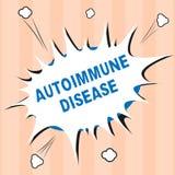Σημάδι κειμένων που παρουσιάζει αυτοάνοση ασθένεια Εννοιολογικά ασυνήθιστα αντισώματα φωτογραφιών που στοχεύουν στους ιστούς σωμά διανυσματική απεικόνιση