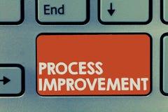Σημάδι κειμένων που παρουσιάζει βελτίωση διαδικασίας Η εννοιολογική βελτιστοποίηση φωτογραφιών ανταποκρίνεται στα νέα πρότυπα ποσ στοκ φωτογραφίες με δικαίωμα ελεύθερης χρήσης