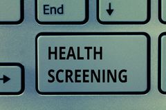 Σημάδι κειμένων που παρουσιάζει διαλογή υγείας Η εννοιολογική φωτογραφία στόχευσε στη συστηματική δράση με σκοπό να προσδιορίσει  στοκ φωτογραφία με δικαίωμα ελεύθερης χρήσης