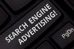 Σημάδι κειμένων που παρουσιάζει διαφήμιση μηχανών αναζήτησης Η εννοιολογική μέθοδος φωτογραφιών τις σε απευθείας σύνδεση διαφημίσ στοκ εικόνες με δικαίωμα ελεύθερης χρήσης