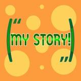 Σημάδι κειμένων που παρουσιάζει ιστορία μου Η εννοιολογική φωτογραφία η προηγούμενες σταδιοδρομία ή οι επιλογές ενεργειών γεγονότ απεικόνιση αποθεμάτων