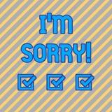 Σημάδι κειμένων που παρουσιάζει Ι Μ θλιβερό Εννοιολογική φωτογραφία που λέει σε κάποιο ότι είστε ντροπιασμένοι ή δυστυχισμένοι γι διανυσματική απεικόνιση