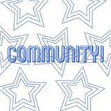 Σημάδι κειμένων που παρουσιάζει Κοινότητα Εννοιολογική επανάληψη ομάδας ενότητας συμμαχίας κρατικών συνεταιρισμών ένωσης γειτονιά ελεύθερη απεικόνιση δικαιώματος