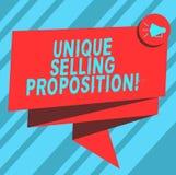 Σημάδι κειμένων που παρουσιάζει μοναδική πρόταση πώλησης Η εννοιολογική φωτογραφία διαφοροποιεί ένα προϊόν από τους ανταγωνιστές  απεικόνιση αποθεμάτων