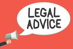 Σημάδι κειμένων που παρουσιάζει νομική συμβουλή Εννοιολογική άποψη δικηγόρων φωτογραφιών για τη διαδικασία νόμου σε μια ιδιαίτερη ελεύθερη απεικόνιση δικαιώματος
