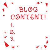 Σημάδι κειμένων που παρουσιάζει περιεκτικότητα σε Blog Εννοιολογικές θέσεις φωτογραφιών σε μια συνεχή ρέοντας σελίδα ή το μεμονωμ διανυσματική απεικόνιση