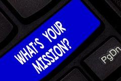 Σημάδι κειμένων που παρουσιάζει ποιο S είναι το Missionquestion σας Εννοιολογικός λόγος φωτογραφιών πολύ για την έννοια ύπαρξης τ στοκ εικόνα με δικαίωμα ελεύθερης χρήσης