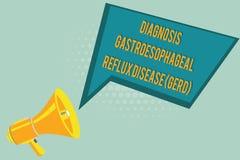 Σημάδι κειμένων που παρουσιάζει στη διάγνωση Gastroesophageal Reflux ασθένεια Gerd Εννοιολογική χωνευτική αναταραχή φωτογραφιών διανυσματική απεικόνιση