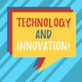 Σημάδι κειμένων που παρουσιάζει την τεχνολογία και καινοτομία Εννοιολογικές τεχνολογικές αλλαγές φωτογραφιών του σωρού προϊόντων  διανυσματική απεικόνιση