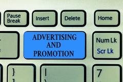Σημάδι κειμένων που παρουσιάζει τη διαφήμιση και προώθηση Η εννοιολογική φωτογραφία έλεγξε και πλήρωσε τη δραστηριότητα μάρκετινγ στοκ φωτογραφία με δικαίωμα ελεύθερης χρήσης