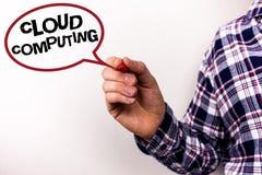 Σημάδι κειμένων που παρουσιάζει υπολογισμό σύννεφων Εννοιολογικό φωτογραφιών σε απευθείας σύνδεση πληροφοριών αποθήκευσης εικονικ Στοκ εικόνα με δικαίωμα ελεύθερης χρήσης