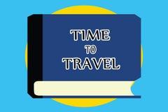 Σημάδι κειμένων που παρουσιάζει χρόνο να ταξιδεψει Εννοιολογική φωτογραφία που κινείται ή που πηγαίνει από μια θέση προς άλλη στι απεικόνιση αποθεμάτων