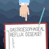 Σημάδι κειμένων που παρουσιάζει Gastroesophageal Reflux ασθένεια Εννοιολογική ανάλυση της HU θωρακικού πόνου καψίματος αναταραχής διανυσματική απεικόνιση