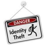 Σημάδι κινδύνου κλοπής ταυτότητας στο λευκό ελεύθερη απεικόνιση δικαιώματος