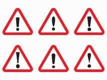 Σημάδι κινδύνου, κόκκινο εικονίδιο κινδύνου τριγώνων Στοκ Φωτογραφίες