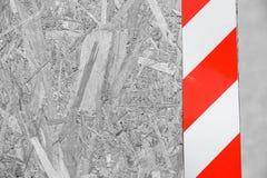 Σημάδι κινδύνου στον ξύλινο φράκτη fractal λουλουδιών σχεδίου καρτών ανασκόπησης μαύρο καλό λευκό αφισών ogange Στοκ φωτογραφίες με δικαίωμα ελεύθερης χρήσης