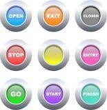 σημάδι κουμπιών ελεύθερη απεικόνιση δικαιώματος