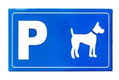 Σημάδι κυκλοφορίας για τα σκυλιά που απομονώνεται στο λευκό Στοκ φωτογραφία με δικαίωμα ελεύθερης χρήσης