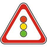 Σημάδι κυκλοφορίας, οδικό σημάδι, σηματοφόρος, διανυσματικό εικονίδιο ελεύθερη απεικόνιση δικαιώματος