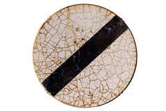 Σημάδι κυκλοφορίας που απομονώνεται στο άσπρο υπόβαθρο Στοκ Φωτογραφίες