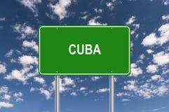 Σημάδι κυκλοφορίας της Κούβας διανυσματική απεικόνιση