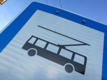 Σημάδι λεωφορείων καροτσακιών στοκ φωτογραφία με δικαίωμα ελεύθερης χρήσης