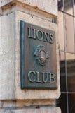 σημάδι λιονταριών λεσχών Στοκ Εικόνες