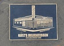 Σημάδι λιχουδιών Katz, πόλη της Νέας Υόρκης Στοκ Εικόνες