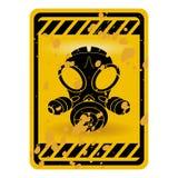 σημάδι μασκών αερίου Στοκ φωτογραφία με δικαίωμα ελεύθερης χρήσης