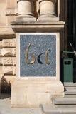 Σημάδι με το λογότυπο της κεντρικής τράπεζας του Λουξεμβούργου στοκ εικόνα με δικαίωμα ελεύθερης χρήσης
