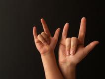 σημάδι μητέρων αγάπης παιδιώ&nu Στοκ Φωτογραφίες
