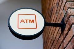 σημάδι μορφής κύκλων του ATM Στοκ Φωτογραφία