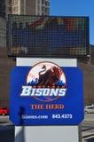 Σημάδι μπέιζ-μπώλ βισώνων Buffalo, Νέα Υόρκη, ΗΠΑ Στοκ φωτογραφία με δικαίωμα ελεύθερης χρήσης