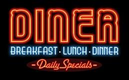 Σημάδι νέου γευματιζόντων εστιατορίων στοκ φωτογραφία