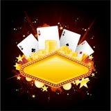 σημάδι νέου χαρτοπαικτικώ& Στοκ φωτογραφία με δικαίωμα ελεύθερης χρήσης