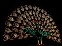 Σημάδι νέου Peacock Στοκ φωτογραφία με δικαίωμα ελεύθερης χρήσης