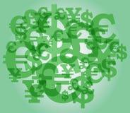 σημάδι νομίσματος ανασκόπ&et Στοκ Φωτογραφία