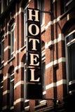σημάδι ξενοδοχείων στοκ εικόνες με δικαίωμα ελεύθερης χρήσης