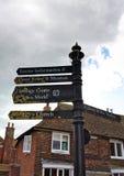 Σημάδι οδών - ορόσημα - σίκαλη - UK στοκ φωτογραφίες