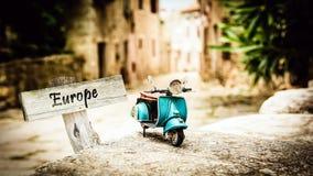 Σημάδι οδών στην Ευρώπη στοκ φωτογραφίες