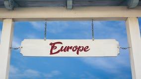 Σημάδι οδών στην Ευρώπη στοκ εικόνα με δικαίωμα ελεύθερης χρήσης